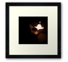 Bride and groom kissing in wedding marriage sepia 35mm film Framed Print