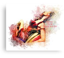 Lady in Red Love Canvas Print