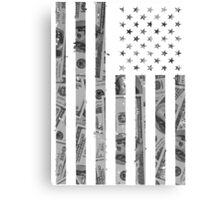 American Flag Money Canvas Print