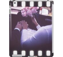 Wedding bride and bridegroom in car 35mm slide film strip iPad Case/Skin