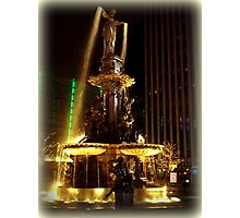 Golden Fountain Photographic Print