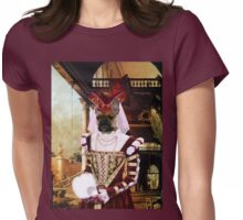 French Bulldog Art -Capriccio of Colonade and the Courtyard of a Palace Womens Fitted T-Shirt