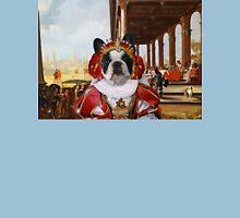French Bulldog Art - Elegant company on a palatial loggia Unisex T-Shirt