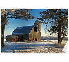 Frosty Cedar Barn 2 Poster