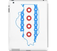Chicago Flag in Illinois State Outline iPad Case/Skin