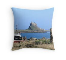 Castle, Holy Island Throw Pillow