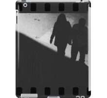 Man and woman holding hands in film noir analog 35mm film photo iPad Case/Skin