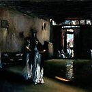 Venetian Interior after John Singer Sargent by Monica Vanzant