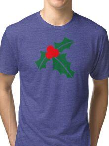 Holly christmas Tri-blend T-Shirt