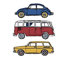 Vintage Volkswagen Family Photographic Print
