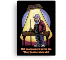 Old Pool Players Canvas Print