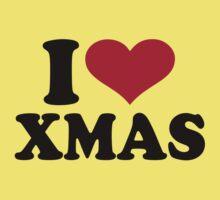 I love xmas christmas Baby Tee