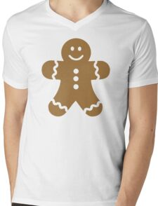 Lebkuchen gingerbread man Mens V-Neck T-Shirt