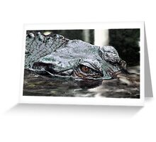Croca-gator Greeting Card