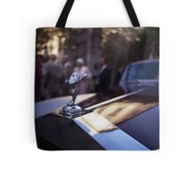Rolls Royce in wedding analog medium format Hasselblad film photograph Tote Bag