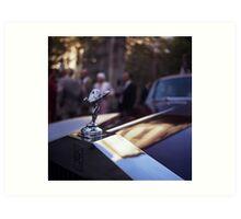 Rolls Royce in wedding analog medium format Hasselblad film photograph Art Print