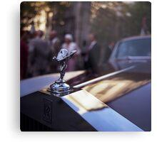 Rolls Royce in wedding analog medium format Hasselblad film photograph Metal Print