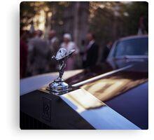 Rolls Royce in wedding analog medium format Hasselblad film photograph Canvas Print