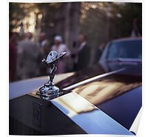 Rolls Royce in wedding analog medium format Hasselblad film photograph Poster