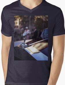 Rolls Royce in wedding analog medium format Hasselblad film photograph Mens V-Neck T-Shirt