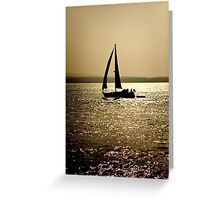 Silhouette Yacht Greeting Card
