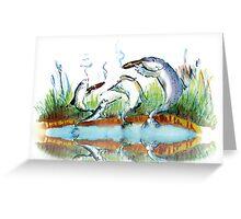 Smoked fish Greeting Card
