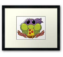 Pizza Lover- Donatello Framed Print