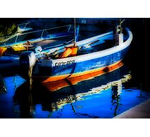 Impressionist boat Photographic Print