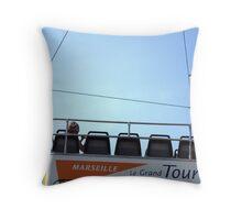 """Marseille """"le grand tour"""" Throw Pillow"""