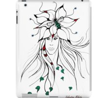 Earth Woman 5 - drawing by Valentina Miletic iPad Case/Skin