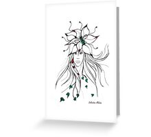 Earth Woman 5 - drawing by Valentina Miletic Greeting Card