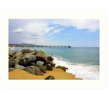 Las Playas de Espana Art Print