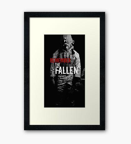 Remember the Fallen (RED) Framed Print