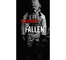 Remember the Fallen (RED) Photographic Print