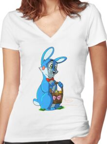 AtFBB - Easter Clyde Women's Fitted V-Neck T-Shirt
