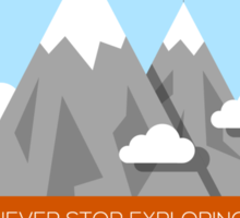 Mountain illustration. Never stop exploring Sticker