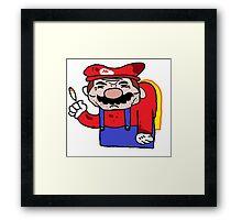 Mario is done. Framed Print
