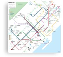 Barcelona metro map Canvas Print