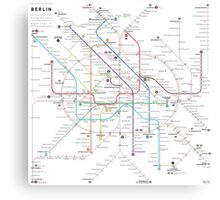 Berlin U-bahn S-bahn map Canvas Print