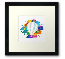 Balloon in colors Framed Print