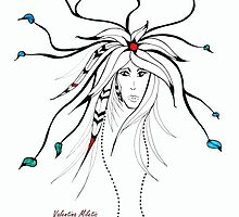 Earth Woman 4 - drawing by Valentina Miletic by Valentina Miletic