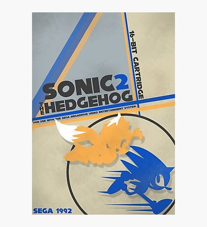 Megadrive - Sonic the Hedgehog 2 Photographic Print