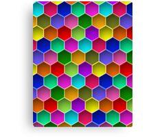 Multi-colored Hexagon Pattern Canvas Print