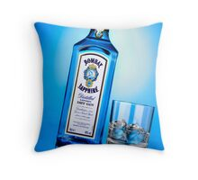 Advertising - Bombay Sapphire Throw Pillow