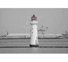 The Perch Rock Lighthouse - New Brighton Photographic Print