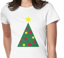 Christmas fir tree Womens Fitted T-Shirt