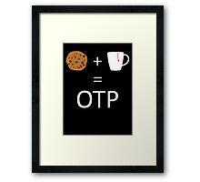 Cookie + Mug = OTP (Carmilla) Framed Print