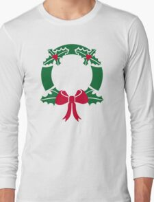 Wreath christmas Long Sleeve T-Shirt