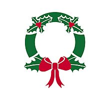 Wreath christmas Photographic Print