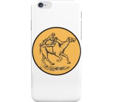 Jockey Camel Racing Circle Etching iPhone Case/Skin